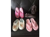 4 X Pairs Slippers (New Unboxed)