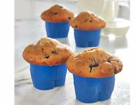 Set Of 4 Silicone Jean Muffin Cases