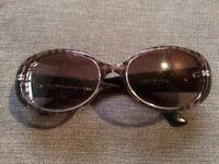 Emporio Armani EA9608/S dark brown chequered Wayfarer ladies sunglasses