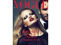 RARE Vogue Paris 2011 12/2010 Tom Ford Abbey Lee Crystal Renn Marisa Berenson