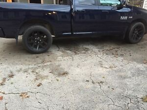 "Ram 22"" srt rims with 305-45-22 cooper tires"
