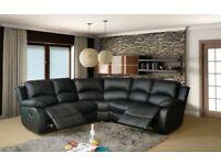 corner sofa black