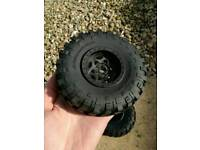 Axial Yeti / Bomber / SCX10 BF Goodrich 2.2 RC crawler wheels & tyres *brand new*