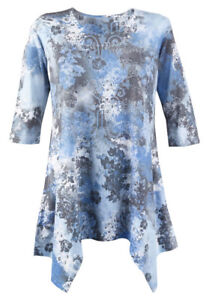 Spoiled Rotten Women's Print Tunic Top 2XL, New