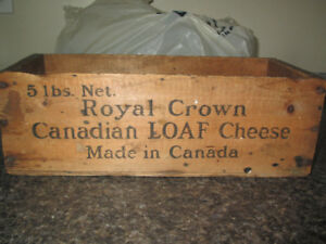 antique wooden cheese box