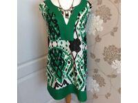 Bright green linen tunic (22)