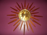 VINTAGE (ANSTEY WILSON) Sunburst Wall Clock. Loook***
