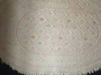 Pair of cream oval rugs from John Lewis