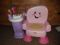 FISHER PRICE LAUGH & LEARN PINK MUSICAL ACTIVITY CHAIR