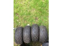 Quad tyres (16x8-7)and rims tyres are like new
