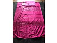 Hot Pink Single Duvet Cover And Pillow Cover