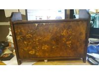 Lovely Little Antique Cabinet With Intricate Detailed Front