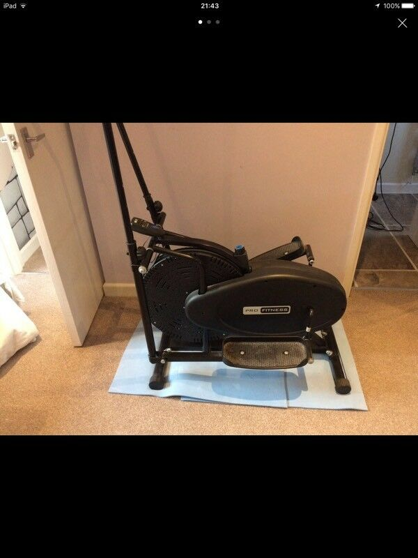 Po fitness cross trainerin NewportGumtree - Pro fitness cross trainer working fine except for the control panel hense low price. Chain driven unlike others that are belt driven. Only selling as seems to be turning into a clothes horse