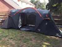 Regatta 6 person tent with 3 rooms
