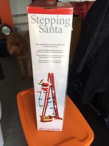 Animated Stepping Santa Christmas decorations