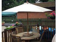 Large Cream Garden Parasol / Canopy
