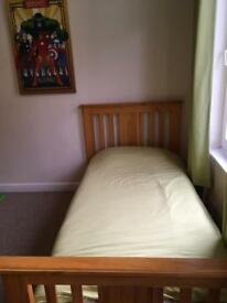 Wooden bed frame x 2 (Mattresses not included)