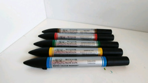 Five Winsor & Newton Watercolor Markers