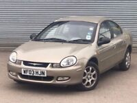 2003 CHRYSLER NEON LX, 2.0 ENGINE, AUTOMATIC, 5 DOORS, GREAT SERVICE HISTORY