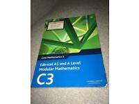 C3 maths edexcel book as level and a level
