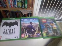 Xbox one games (Batman watchdogs 2 and jurassic park lego
