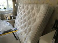 Laura Ashley king size mattress, only used a week with mattress protector and too firm.