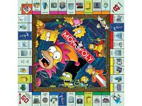 Simpsons Monopoly Gameboard