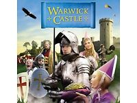 2 tickets for Warwick castle