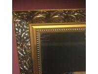 Gilt Framed Bevelled Edged Mirror