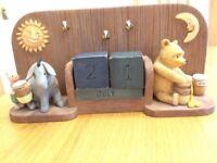 Classic Pooh Calendar blocks ornament