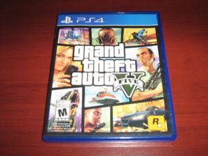 5 Jeux PS4 en bonne condition a échanger , ou $ 120 le lot .