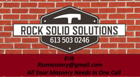ROCK SOLID SOLUTIONS MASONRY AND REPAIR