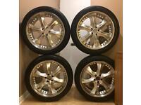 4 x 20 inch alloy wheels