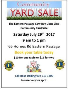 HUGE Lions Club Yard Sale Eastern Passage July 29  65 Hornes Rd