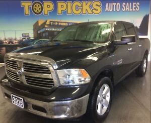 2016 Ram 1500 SLT, CREW CAB, ECO DIESEL, 20 WHEELS, NAVIGATION
