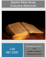 Baptist Bible Study-Everyone Welcome