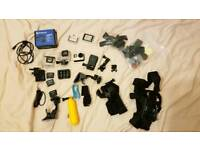 GoPro Hero 4 Black with batteries and accessories