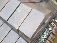 Vintage blue coping stones