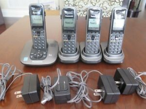 Panasonic Cordless Dect 6.0 Phone with 4 Handsets