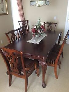 Ashley Hand Carved Dining Room Set
