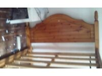 Pine King Size bed with wood slats....collection from Bulwell