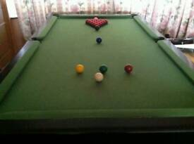 6ft by 4 ft snooker table