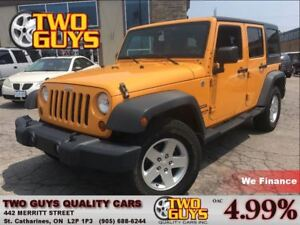 2012 Jeep WRANGLER UNLIMITED Sport 4WD FUN COLOUR!! HEATED MIRRO