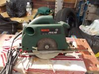 Bosch circular saw in good working order with cutting guide