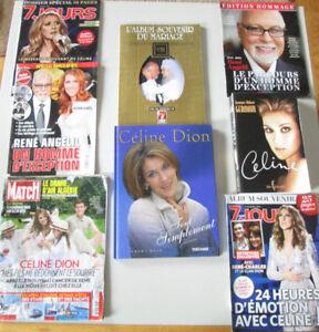 Collection de revues et livre sur Céline Dion