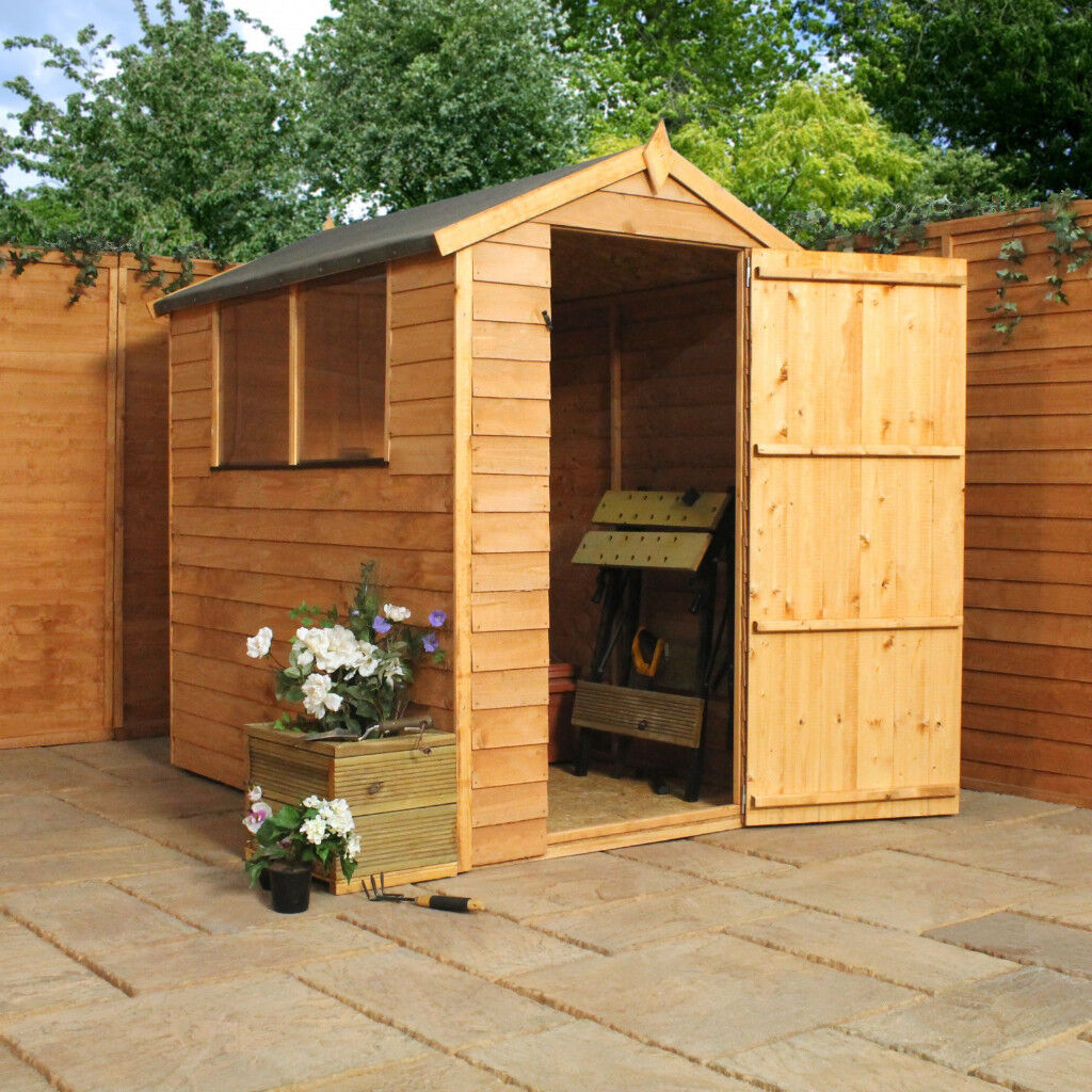 new 6x4 overlap apex garden shed sold