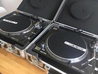 2 x Reloop RP 7000 turntables w/ Flight Cases & Numark M4 Mixer