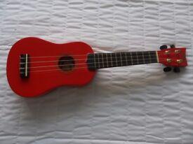 Red ukulele, new