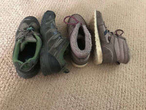 Size 3 Boys boots- 2 pair - Keen & other