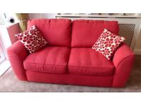2 Seater La-Z-Boy Sofa Bed, Fabric with free pouffe and cushions